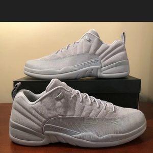 Nike Air Jordan 12 Retro Low Wolf Grey Suede